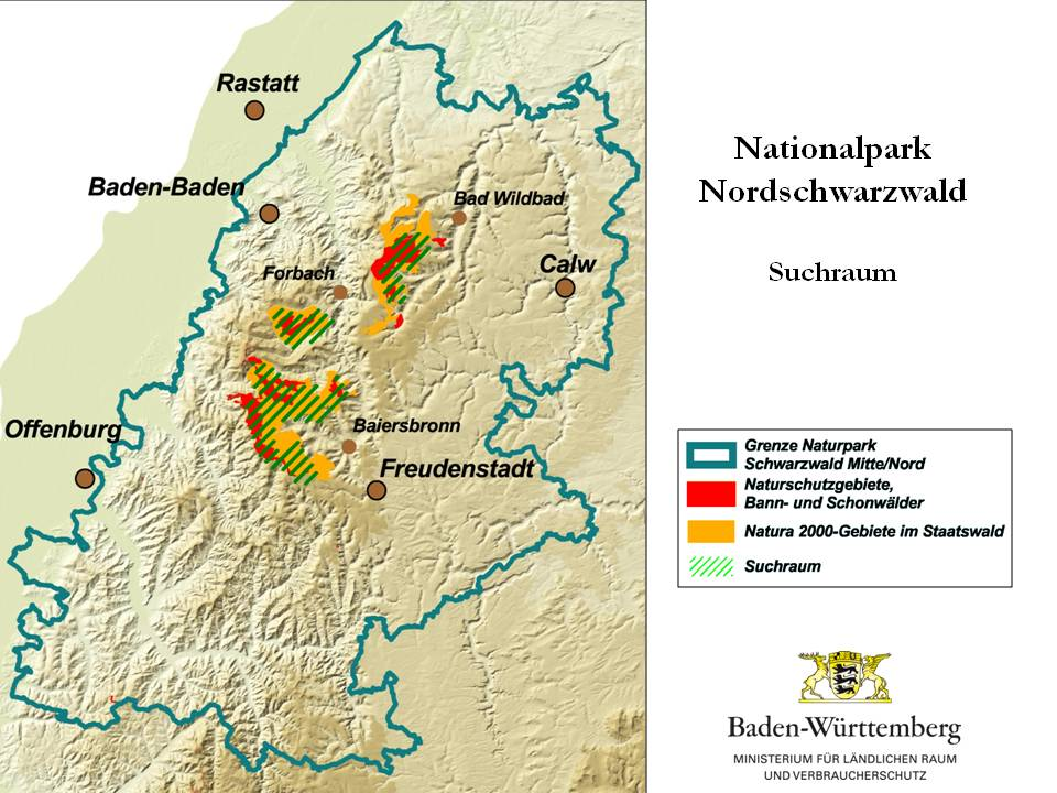 Nordschwarzwald Karte.Details View Karte Des Potentiellen Nationalparks