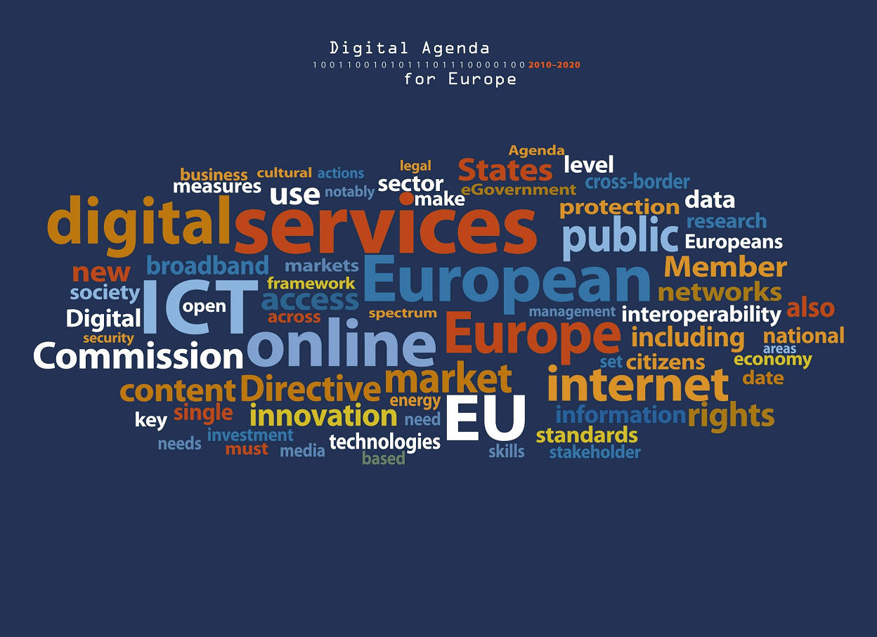 digital agenda for europe wordle tagcloud