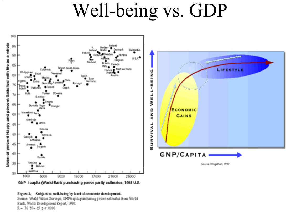 relationship between the level of gdp and economic well being